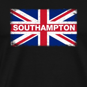 Southampton Shirt Vintage United Kingdom Flag T-Sh - Men's Premium T-Shirt
