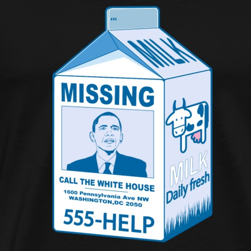 Missing Barrack Obama - Men's Premium T-Shirt
