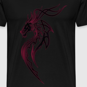 Fantasy dragon with wings - Men's Premium T-Shirt
