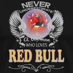 A Woman Who Love Red Bull - Men's Premium T-Shirt