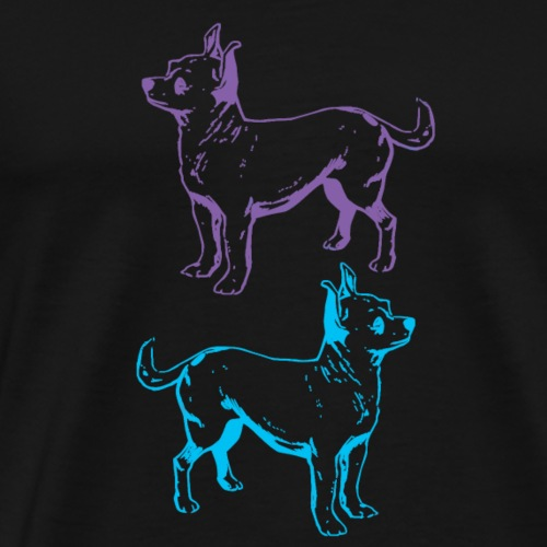 Chihuahua Double the Love - Men's Premium T-Shirt