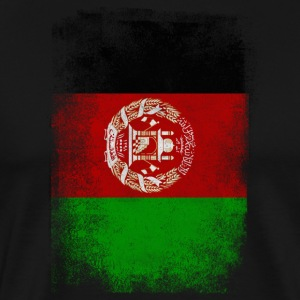 Afghanistan Flag Proud Afghan Vintage Distressed - Men's Premium T-Shirt