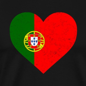 Portugal Flag Shirt Heart - Portuguese Shirt - Men's Premium T-Shirt