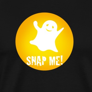 snap1 Monster ghost yellow fun Humor happy video - Men's Premium T-Shirt