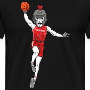custom trojan mascot basketball - Men's Premium T-Shirt