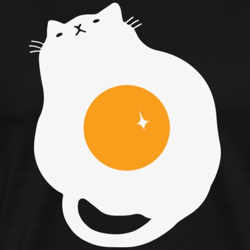 Egg cat T shirt Design Funny Cute Cat Tee Shirts - Men's Premium T-Shirt