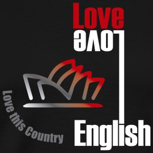 Love English, love Australia - Men's Premium T-Shirt