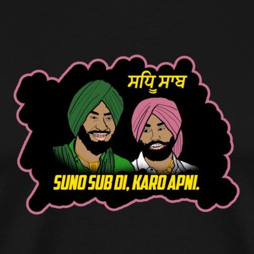 Punjabi Brothers wisdom. - Men's Premium T-Shirt