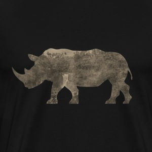 Silhouette Jungle Series Rhino - Men's Premium T-Shirt