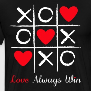 Tic and toe heart valentine - Men's Premium T-Shirt