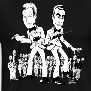 Gwiz Art Moore & Connery 007 Tribute - Men's Premium T-Shirt