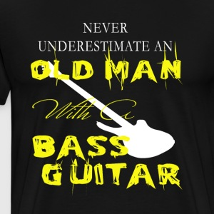 Old Man With A Bass Guitar T Shirt - Men's Premium T-Shirt