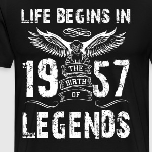Life Begin In 1957 Legends - Men's Premium T-Shirt
