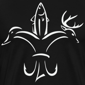 Hunting Sportsman Fleur de Lis Sticker Decal - Men's Premium T-Shirt