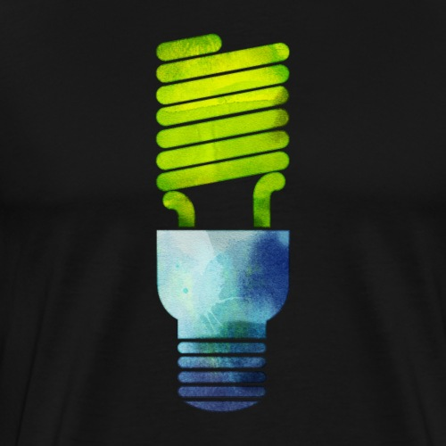 Grunge Green Light Bulb - Men's Premium T-Shirt
