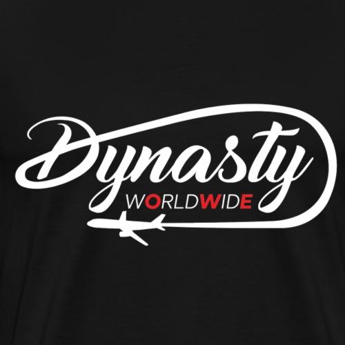 dynasty white logo - Men's Premium T-Shirt