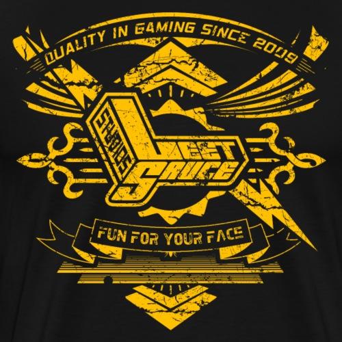 Vintage Leet Sauce Studios Crest Gold - Men's Premium T-Shirt