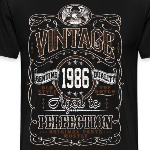 Vintage 1986 Aged To Perfection - Men's Premium T-Shirt