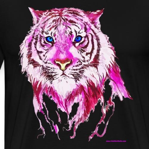 Pink Tiger Watercolor - Men's Premium T-Shirt