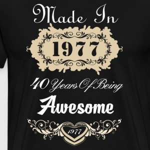 Made in 1977 40 years of being awesome - Men's Premium T-Shirt
