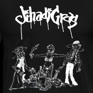 JihadisGras Logo (White) With Gras - Men's Premium T-Shirt