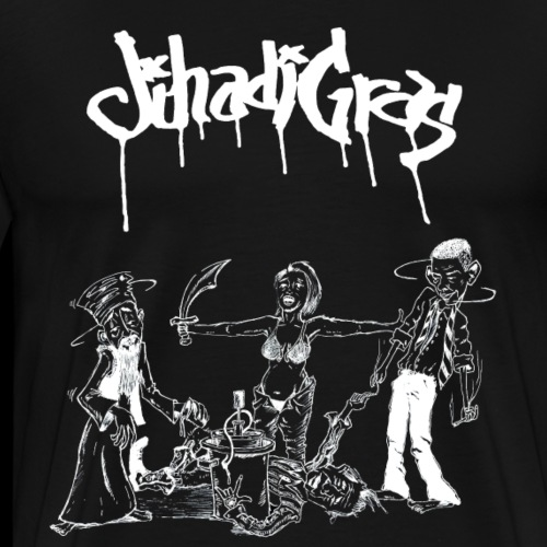 JihadisGras Logo (White) With Gras - Men's Premium T-Shirt