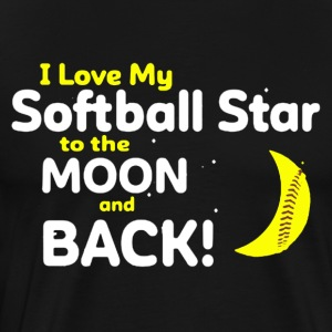I Love My Softball Star To The Moon And Back Shirt - Men's Premium T-Shirt