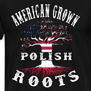 American Grown Polish Roots T Shirt American Polis - Men's Premium T-Shirt