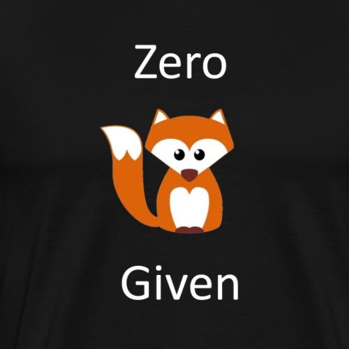 zeroFGwhite - Men's Premium T-Shirt