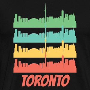 Retro Toronto Canada Skyline Pop Art - Men's Premium T-Shirt