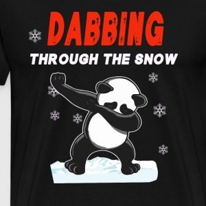Panda DABBING THROUGH THE SNOW T-SHIRT - Men's Premium T-Shirt