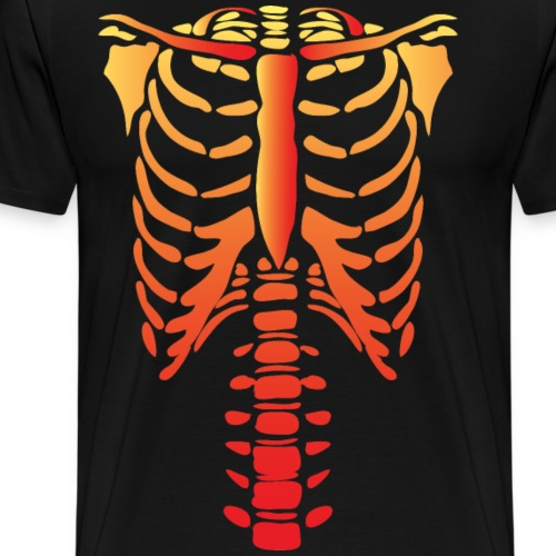 Halloween Tshirt Red Skelaton - Men's Premium T-Shirt