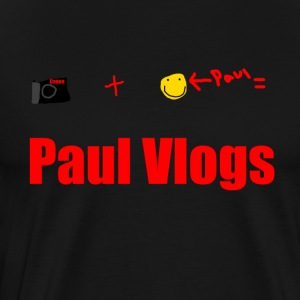 Camera + Paul = Paul Vlogs - Men's Premium T-Shirt