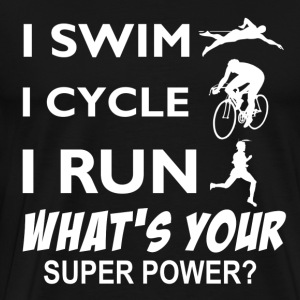 Triathlon Super Power designs - Men's Premium T-Shirt