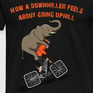 Downhill Biker Going Uphill - Men's Premium T-Shirt