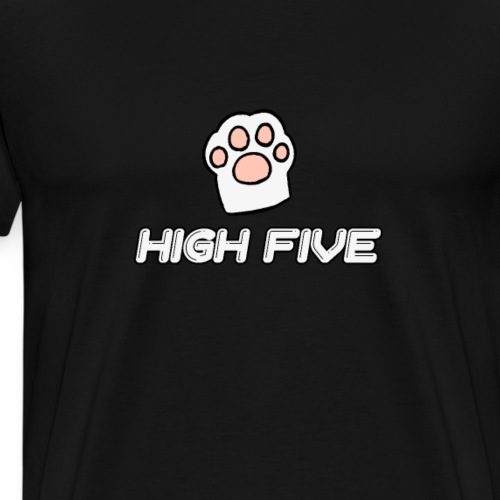 high five cat paw - Men's Premium T-Shirt