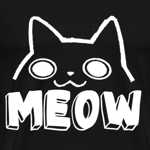 Cat Face Meow - Men's Premium T-Shirt