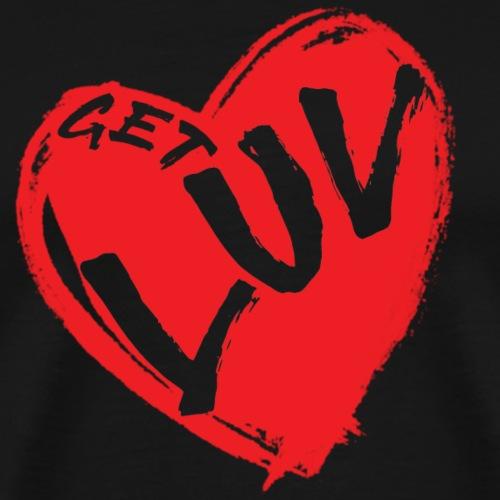Get Luv - Trevor Lee Music (Red) - Men's Premium T-Shirt