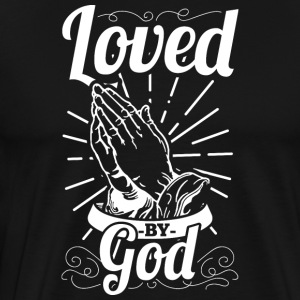 Loved By God (White Letters) - Men's Premium T-Shirt