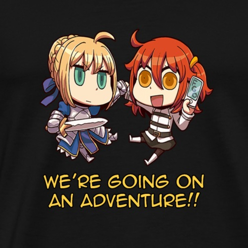 fate grand orderGudako and Saber Adventure - Men's Premium T-Shirt