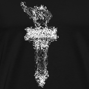 Liberty torch drawing2 - Men's Premium T-Shirt