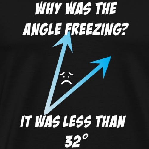 Why was the angle freezing It was less than 32 - Men's Premium T-Shirt
