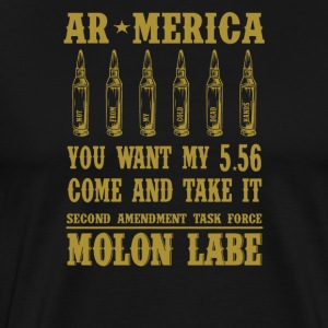 AR-America. You want my 5.56. Come and Take It - Men's Premium T-Shirt