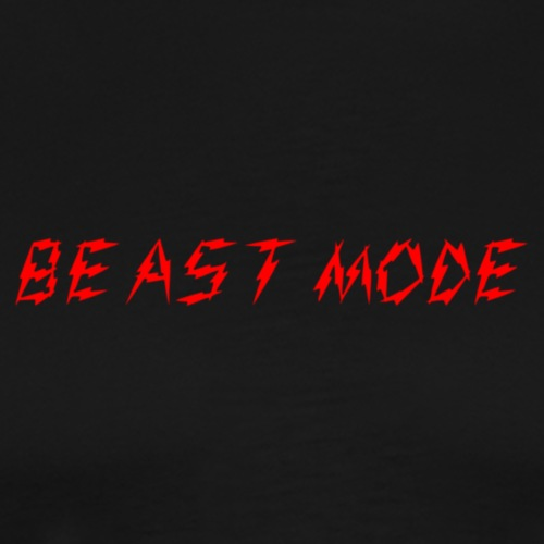 Beast M0de Text Only - Men's Premium T-Shirt