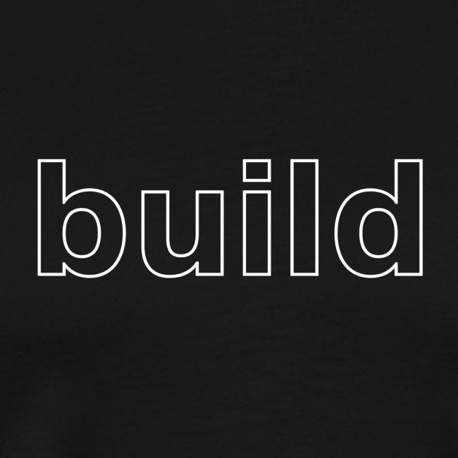 build logo (white for use on Dark Shirts)