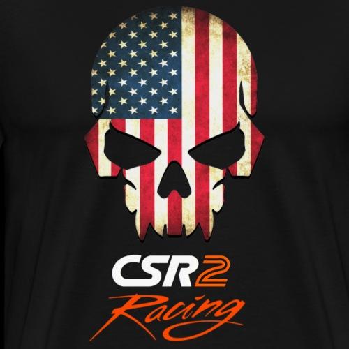 American Flag Skull CSR2 Racing - Men's Premium T-Shirt