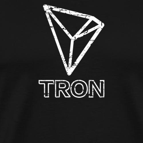 TRON (TRX) Distressed Tshirt - Men's Premium T-Shirt