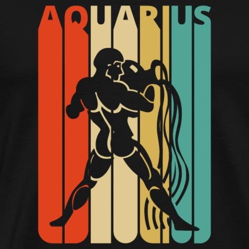 Vintage Aquarius Zodiac for Christmas, Birthday - Men's Premium T-Shirt