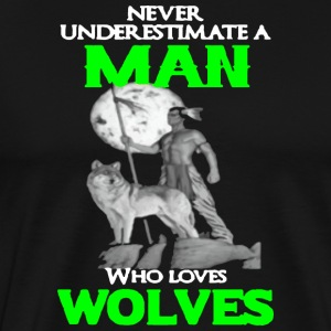 WOLF MAN - Men's Premium T-Shirt