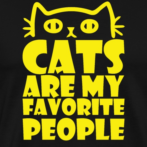 Cats are my favorite people T-shirt Design - Men's Premium T-Shirt